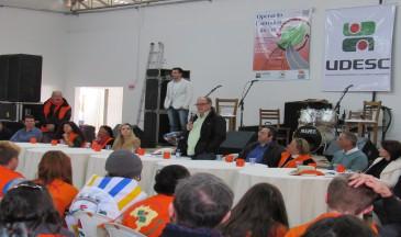 Reitor da universidade participou do encerramento das atividades, em Braço do Norte - Foto: NER/Udesc