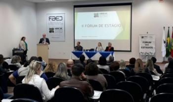 Segundo Fórum de Estágio da Udesc foi promovido nesta terça, em Florianópolis - Fotos: Divulgação
