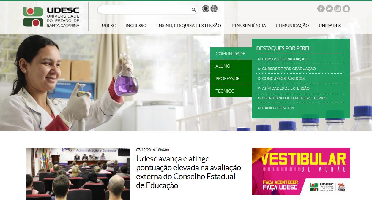 91a4d0802 Notícia - Udesc lança novo portal da universidade nesta quinta com ...