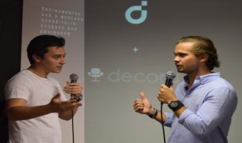 Paulo Orione e Gustavo Tremel, da Decora, na Jornada Acadêmica de Administração Empresarial