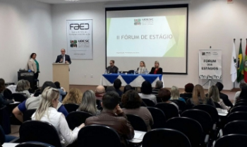 Segundo Fórum de Estágio da Udesc foi realizado nesta terça, em Florianópolis