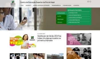 Novo site facilita acesso às informações dos setores e das atividades do centro - Imagem: Reprodução