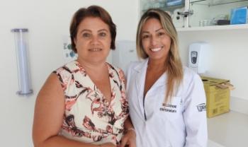 O Saas conta com duas profissionais: a assistente social Salete e a enfermeira Valdirene. Foto: Maya Soares