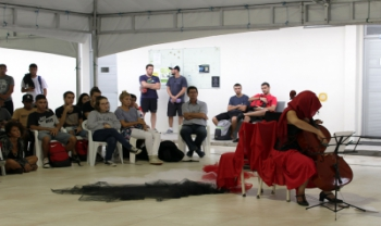 Intervenção artística na Udesc Cefid
