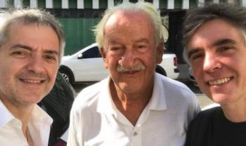 Hugo Pilge, Ernst Mahle e Guilherme Sauerbronn. Foto: Divulgação
