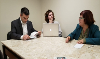 Visita ao gabinete da deputada Luciane Carminatti (PT)