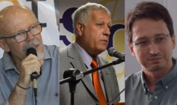 Professor José Fonseca (Administração Empresarial), Arnaldo Lima (Administração Pública) e Adriano Amarante (Ciências Econômicas)