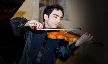 Violinista Matteo Cossu - foto acervo do artista