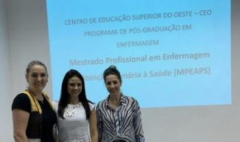 Tema do curso foi definido com base em pesquisa da mestranda Juliana Duarte (centro) - Foto: Divulgação
