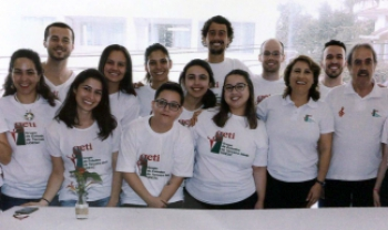 Equipe do Geti, programa de extensão mais antigo da universidade