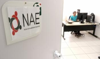 Sede do NAE central fica no terceiro andar da Biblioteca Universitária, em Florianópolis