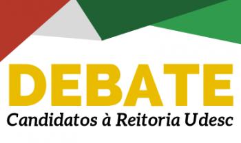 Debate reunirá os dois candidatos a reitor que disputam a  Gestão 2020-2024 da Reitoria da Udesc.