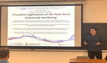 Víctor Luis Padilha apresentou seu trabalho de doutorado em evento nos Estados Unidos (Fotos: arquivo pessoal)