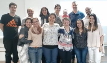 Pedagoga Julice Dias (de crachá), da Udesc Faed, participou como convidada