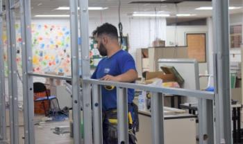 Espaço Inovador de Ensino da Udesc Esag começou a ser preparado na quarta, 9 de outubro