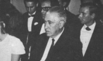 Governador Celso Ramos na formatura da turma de 1969, no TAC