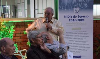 Homenagem a egressos da primeira turma da Udesc Esag, de 1969