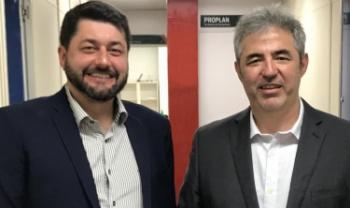 Reitor e vice-reitor eleito, professores Dilmar Baretta e Luiz Coelho assumem cargos em abril.