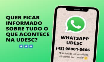 Interessados devem preencher o cadastro e adicionar o  número da Udesc na agenda do celular