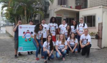 A ação faz parte do Projeto Aquarela, desenvolvido por estudantes do curso de graduação em Administração Empresarial
