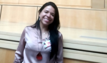 Melissa em evento na ONU, na Suíça