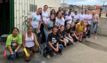 Comitiva do Cefid conheceu trabalho da Associação de Recicladores Esperança