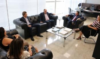 Reunião entre gestores da Udesc e do TCE