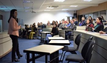 Aula inicial do mestrado e doutorado em Administração da Esag em 2019