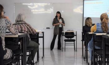 Aula do Curso de Formação Complementar em Administração do Esag Sênior