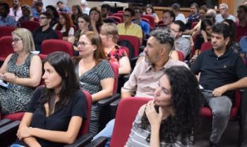 Professores e técnicos durante a Semana de Planejamento e Pedagógica
