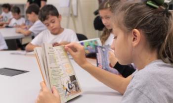Estudantes do Colégio Satc conheceram materiais do programa Esag Kids - Foto: Divulgação/Satc