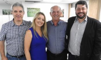 Luiz Coelho, Soraia Tonon da Luz, Nério Amboni e Dilmar Baretta