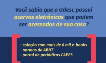 Acervo dispõe de livros e periódicos para a comunidade acadêmica da Udesc