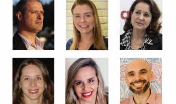 Foram anunciados, da esq. para dir.: Perucci, Julia, Rosangela, Carla, Gesilani e Linhares - Arte: Secom