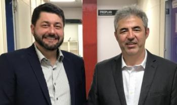 Dilmar Baretta (reitor) e Luiz Coelho (vice) assumirão gestão central da universidade - Foto: Secom Udesc