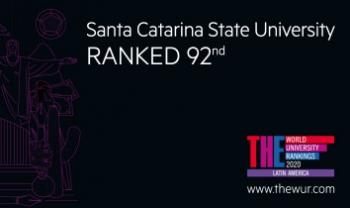 Udesc subiu na classificação do Latin American University Ranking, divulgado nesta terça