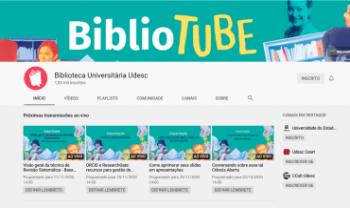 Canal do Youtube da Biblioteca Universitária da  Udesc publica diversos vídeos.