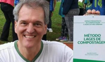 Professor Germano Güttler, criador do Método Lages de Compostagem - Foto: Divulgação