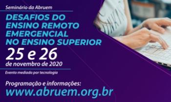 Evento organizado pela Abruem será aberto ao público interessado pela internet.