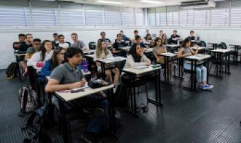 Estudantes de Administração na Udesc Esag