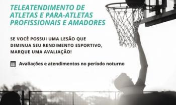 Atletas podem solicitar teleatendimento fisioterapêutico gratuito