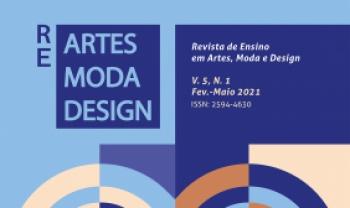 Capa da última edição daRevista de Ensino em Artes, Moda e Design. Periódico teve o maioraumento de acesso aos resumos. | Foto: divulgação.