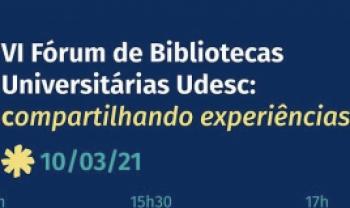 Evento é aberto a bibliotecários e comunidade externa pela internet.