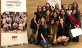 Participantes em Madri, em 2020