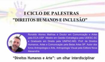 Ciclo de palestras é preparatório para evento nacional sobre direitos humanos e inclusão
