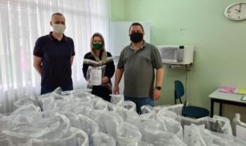 Quase 200 protetores foram distribuídos para cinco instituições em São Bento do Sul