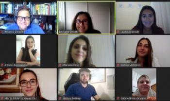 Sessão simulada durante a aula foi realizada por videoconferência - Foto: Reprodução