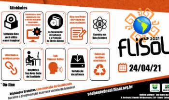 Flisol terá atividades virtuais e presenciais