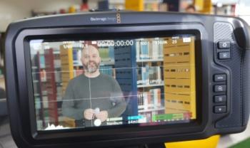 Gravação de entrevistas desta segunda foi feita com docentes da Udesc Balneário Camboriú - Fotos: Divulg.