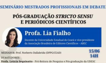 Lia é vice-presidente da Associação Brasileira de  Editores Científicos (ABEC).